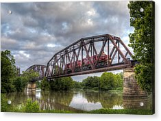 Old Frisco Bridge Acrylic Print by James Barber