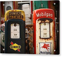 Old Fuel Pumps Acrylic Print