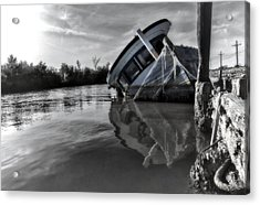 Old Gal Resting Acrylic Print by Stellina Giannitsi