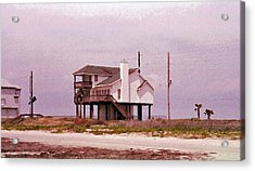 Old Galveston Acrylic Print by Tikvah's Hope