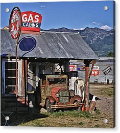 Old Gas Cabin Acrylic Print by Marvin Blaine