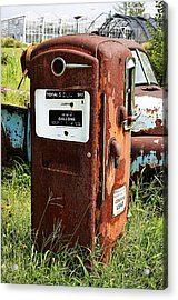 Acrylic Print featuring the photograph Old Gas Pump by Paul Mashburn