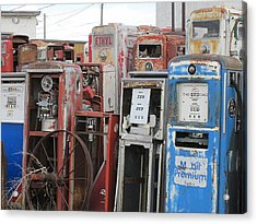 Old Gas Pumps 4 Acrylic Print by Marvin Blaine