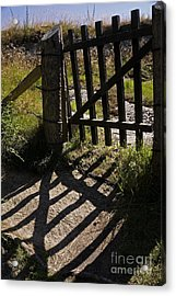 Acrylic Print featuring the photograph Old Gate by Inge Riis McDonald