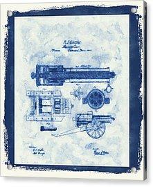 Old Gatling Gun Patent Acrylic Print by Dan Sproul