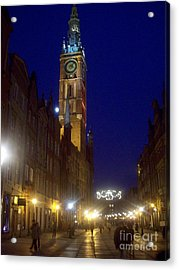 Old Gdansk November Nights Acrylic Print