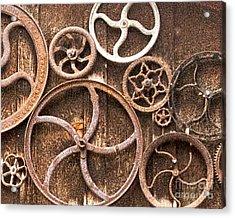 Old Gears In Genoa Nevada Acrylic Print