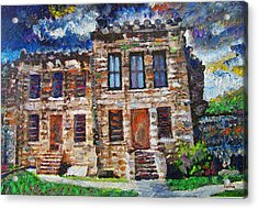 Old Georgetown Jail Acrylic Print by GretchenArt FineArt