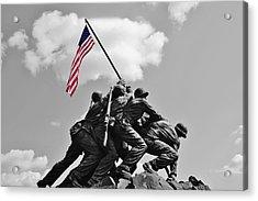 Old Glory At Iwo Jima Acrylic Print by Jean Goodwin Brooks