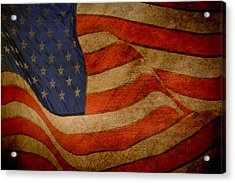 Old Glory Combat Flag Acrylic Print by Davina Washington