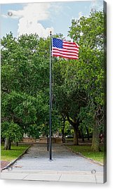 Acrylic Print featuring the photograph Old Glory High And Proud by Sennie Pierson