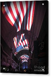 Old Glory In Vegas Acrylic Print by John Malone
