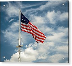 Old Glory Acrylic Print by James Barber
