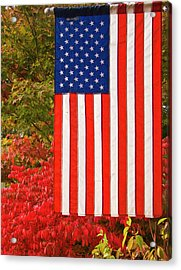 Old Glory Acrylic Print by Ron Roberts