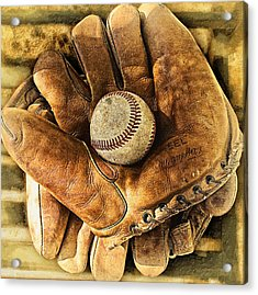 Old Gloves Acrylic Print by Ron Regalado