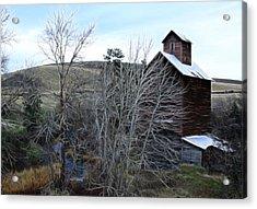 Old Grain Barn Acrylic Print by Steve McKinzie