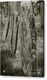 Old Gravestones I Acrylic Print by Dave Gordon