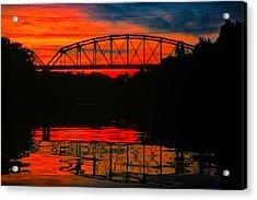 Old Gravois Bridge Silhoutte Acrylic Print