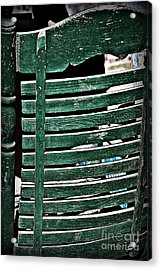 Old Green Chair Acrylic Print by JW Hanley