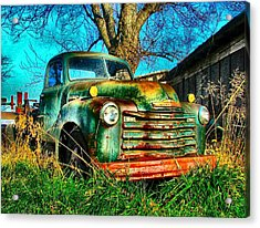 Old Green Acrylic Print by Julie Dant