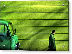 Old Green Acrylic Print by Zlatko Vickovic