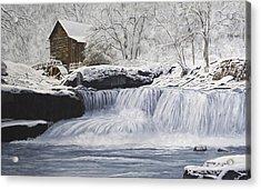 Old Grist Mill Acrylic Print by Johanna Lerwick