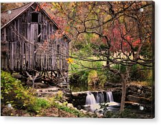 Old Grist Mill - Kent Connecticut Acrylic Print by Thomas Schoeller