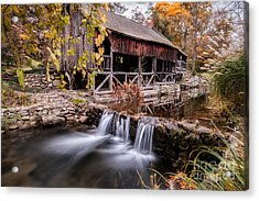 Old Grist Mill - Macedonia Connecticut  Acrylic Print by Thomas Schoeller