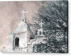Acrylic Print featuring the painting Old Guadalupe Church by Julie Lueders