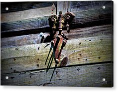 Acrylic Print featuring the photograph Old Hardware by Ludwig Keck