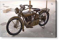 Old Harley Davidson Motorcycle Acrylic Print
