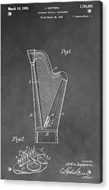 Old Harp Patent Acrylic Print by Dan Sproul