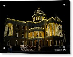 Old Harrison County Courthouse Acrylic Print by Kathy  White