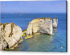 Old Harry Rocks - Purbeck Acrylic Print by Joana Kruse