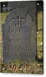 Old Headstone Acrylic Print