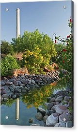 Old Hidalgo Pumphouse And Birding Acrylic Print by Larry Ditto