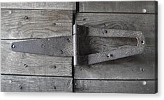 Acrylic Print featuring the photograph Old Hinge by J L Zarek