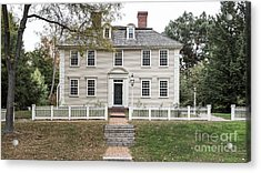 Old Historic Deerfield Massachusetts Acrylic Print by Edward Fielding