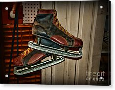 Old Hockey Skates Acrylic Print