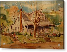 Old Home  Acrylic Print by Lynn Beazley Blair
