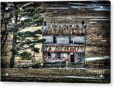Old Home Place With Birds In Front Yard Acrylic Print by Dan Friend