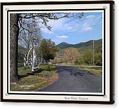 Acrylic Print featuring the digital art Old Homeplace In New Elliett Va by Angelia Hodges Clay