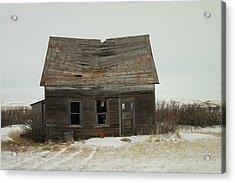 Old Homestead North Dakota Acrylic Print by Jeff Swan