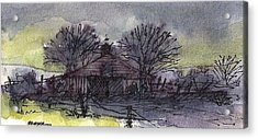 Acrylic Print featuring the mixed media Old Homestead by Tim Oliver