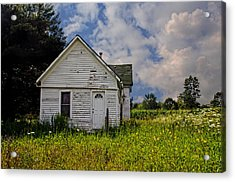 Old House And Flowers Acrylic Print