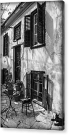 Old House Black And White Acrylic Print