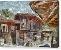 Acrylic Print featuring the painting Old House by Georgi Dimitrov