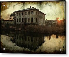 Old House On Canal Acrylic Print