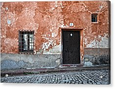 Old House Over Cobbled Ground Acrylic Print by RicardMN Photography