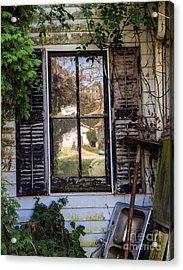 Old House Window Acrylic Print by Iris Richardson